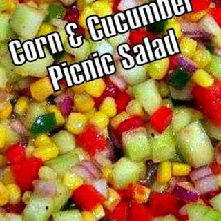 Corn & Cucumber Picnic Salad