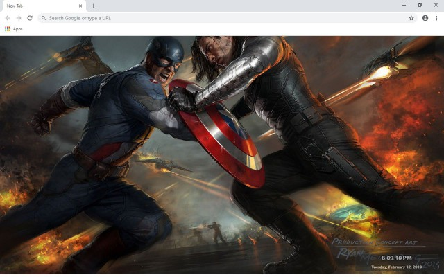 The Winter Soldier New Tab Theme