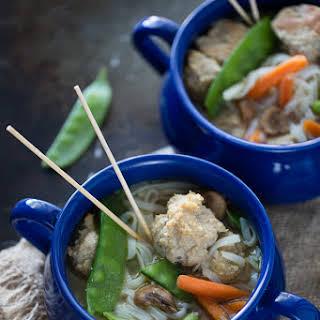 Asian Turkey Meatball Soup.