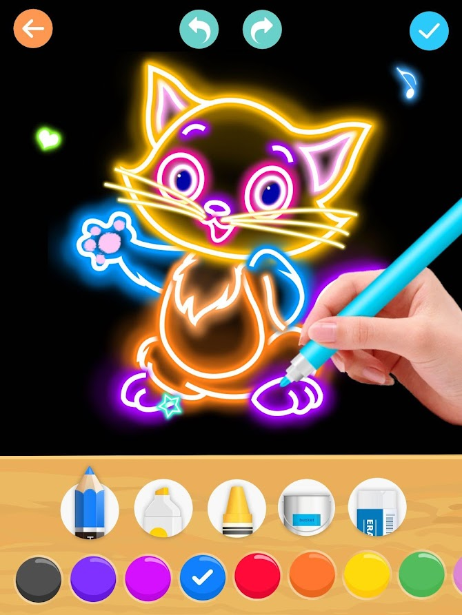 Draw Glow Animals Android 14
