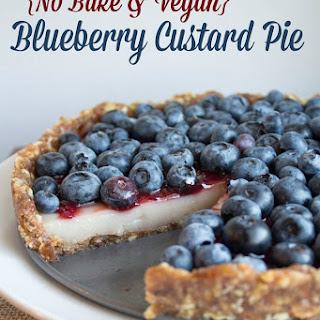 No Bake Blueberry Custard Pie (vegan + gluten free)