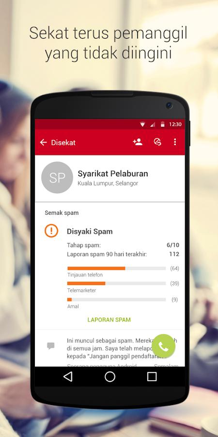 Whitepages ID Pemanggil &Sekat - screenshot