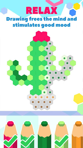 HexaParty - Pixel art coloring book for kids ss3