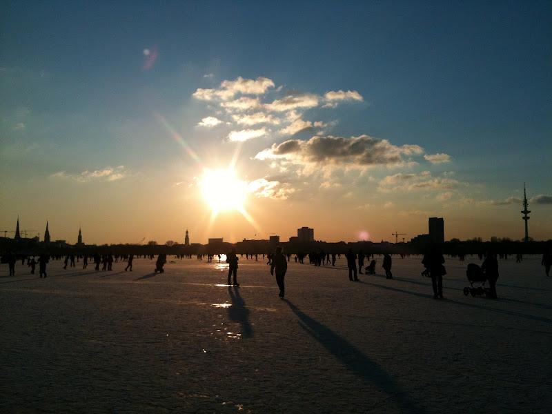 Photo: Außenalster im Eis