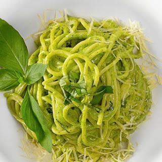Broccoli and Feta Pesto Pasta.