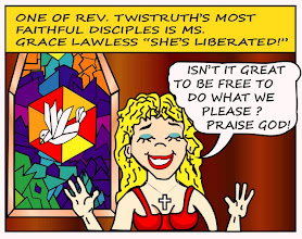 "Photo: Ms. Grace Lawless: She's liberated! ""Isn't it great to be free to do what we please? Praise God!"""