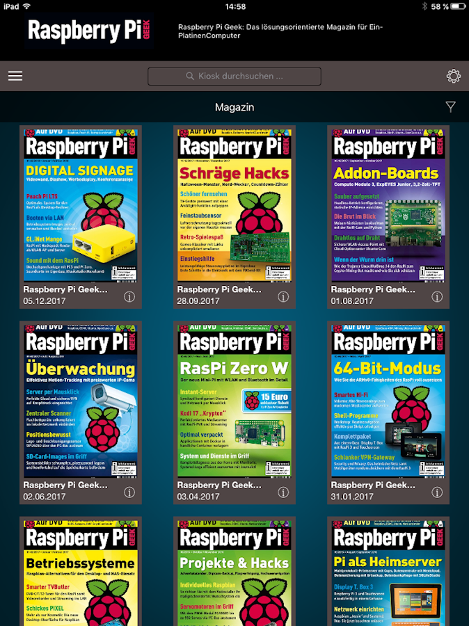 Raspberry Pi Geek- screenshot