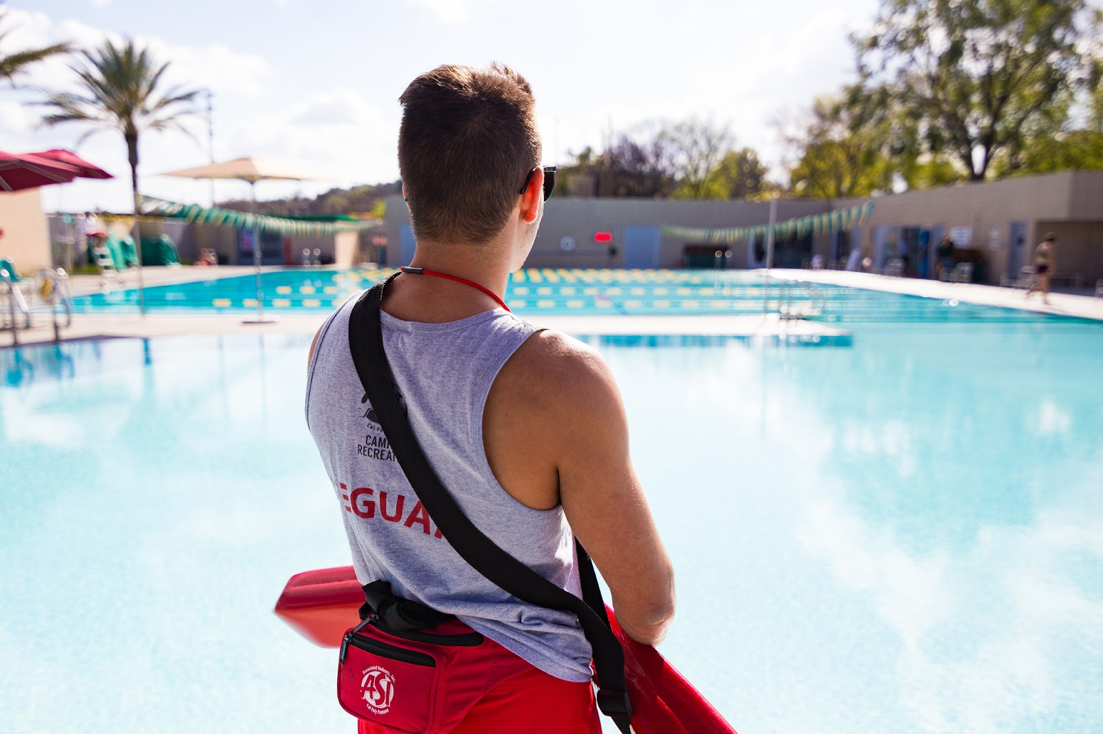Lifeguard overlooking the BRIC pool