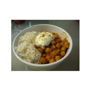 Quick & Healthy Indian Chickpea Stew.