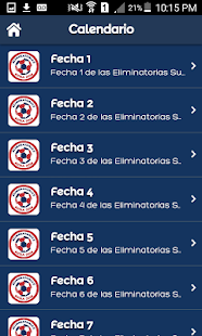 Calendario Eliminatorias 2018- screenshot thumbnail
