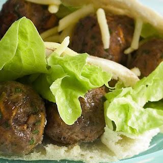 Meatballs Pitas with Tomato Chutney.