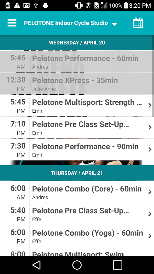 PELOTONE Indoor Cycle Studio- screenshot