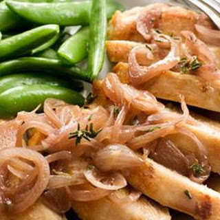 Chicken with Shallot-Red Wine Vinegar Sauce