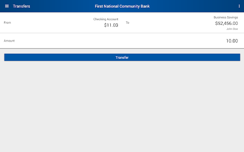 First National Community Bank screenshot 7