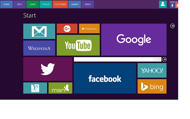 Screenshot of My Browser Page for Chrome
