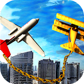 Chained Airplane Games - Flight Simulator Games 3D