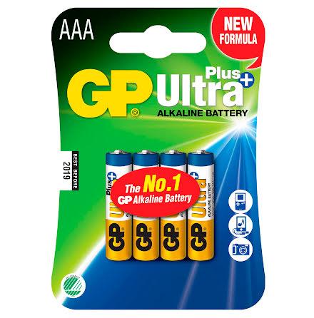 Batteri GP Ultra Plus AAA 4/fp