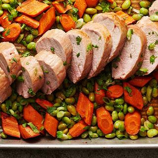Sheet-Pan Asian Pork Tenderloin with Vegetables Recipe