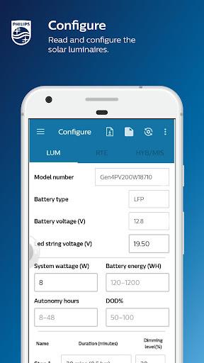 Philips Solar gen4 configurator screenshot 2