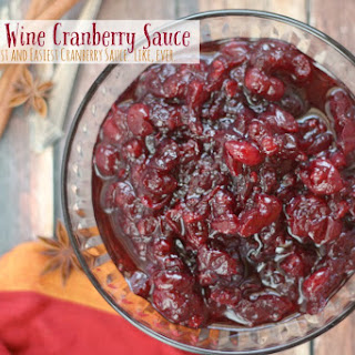Spiced Red Wine Cranberry Sauce.