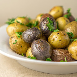 Roasted Young Potatoes with Herbs.