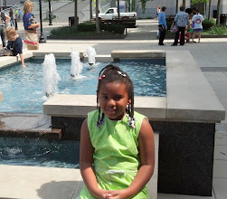 Photo: Kaleya at the fountain outside the Symphony Center