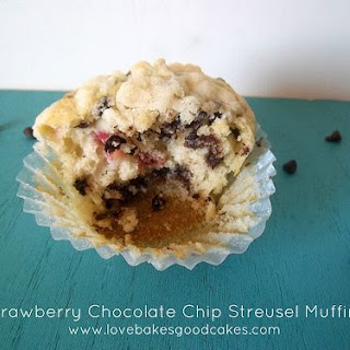 Strawberry Chocolate Chip Streusel Muffins Recipe