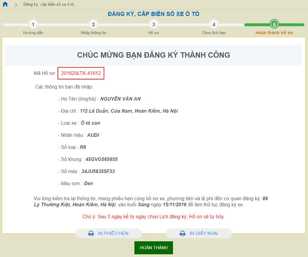 C:\Users\VS9 X64Bit\Desktop\ANH CHUP HUONG DAN\Đăng ký cấp biển số xe ô tô Hoàn thành hồ sơ.png