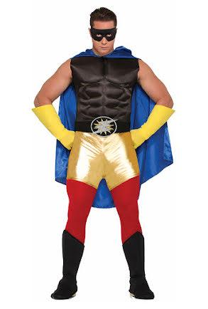 Hero shorts vuxen, guld