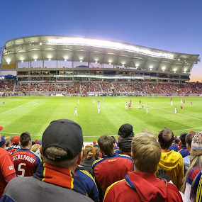 If You Believe Then Just Stand Up On Your Feet by Daniel Olsen - Sports & Fitness Soccer/Association football ( real salt lake, panoramic, soccer )