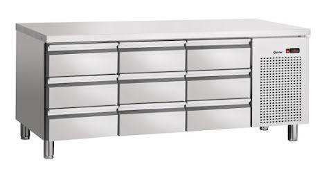 Kylbänk S9-100, 9 draglådor<br> GN 1/1 -100, Bartscher
