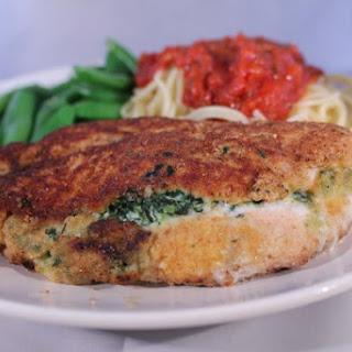 Ricotta and Spinach Stuffed Chicken Breasts.