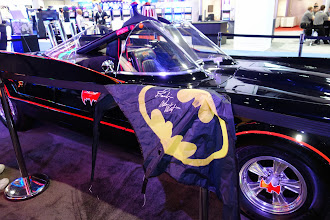 Photo: On Sept 25, 2013 at the Sands Convention Center in Las Vegas. The Aristocrat booth hired Adam West to sign autographs and see the new Batman game. He signed 300 photographs and made an exception to sign this Gary Dromgold one-of-a-kind sport kite. I had removed the frame and brought in the sail in my G2E bag. Mr. West made the exception for me as I had written some of the dialog he used to do the voice overs for our game.