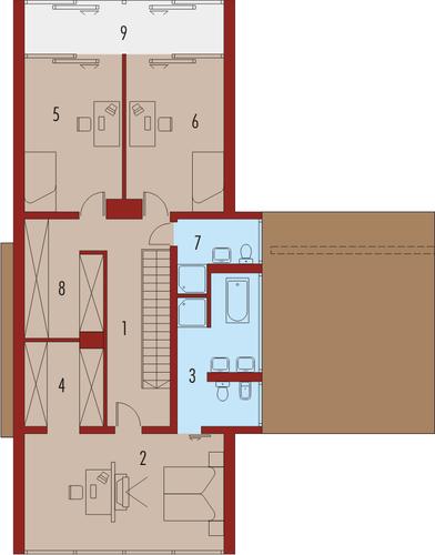 Romek z wiatą - Rzut piętra