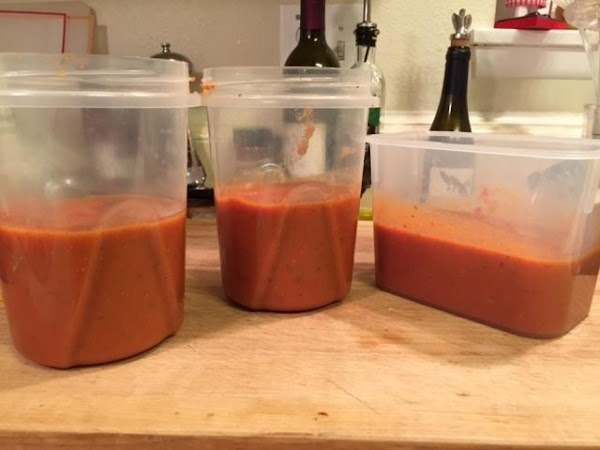 Divide the sauce between storage containers, glass jars, etc., cover tightly and refrigerate or...