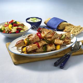 Souvlaki with Greek Salad.