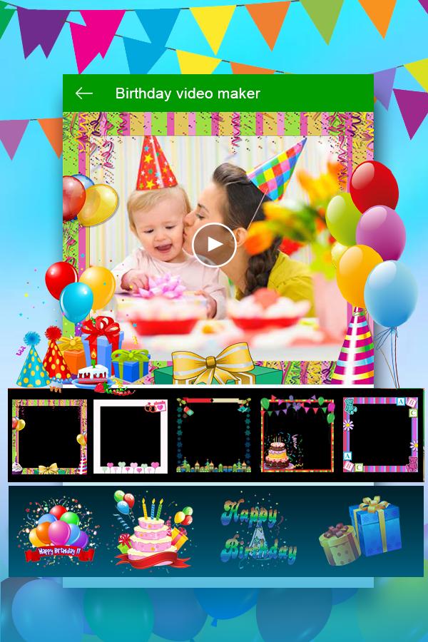Birthday Video Maker : Kids Birthday Movie Maker – Android-Apps auf ...