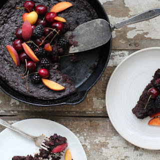 Flourless Blackberry Chocolate Cake