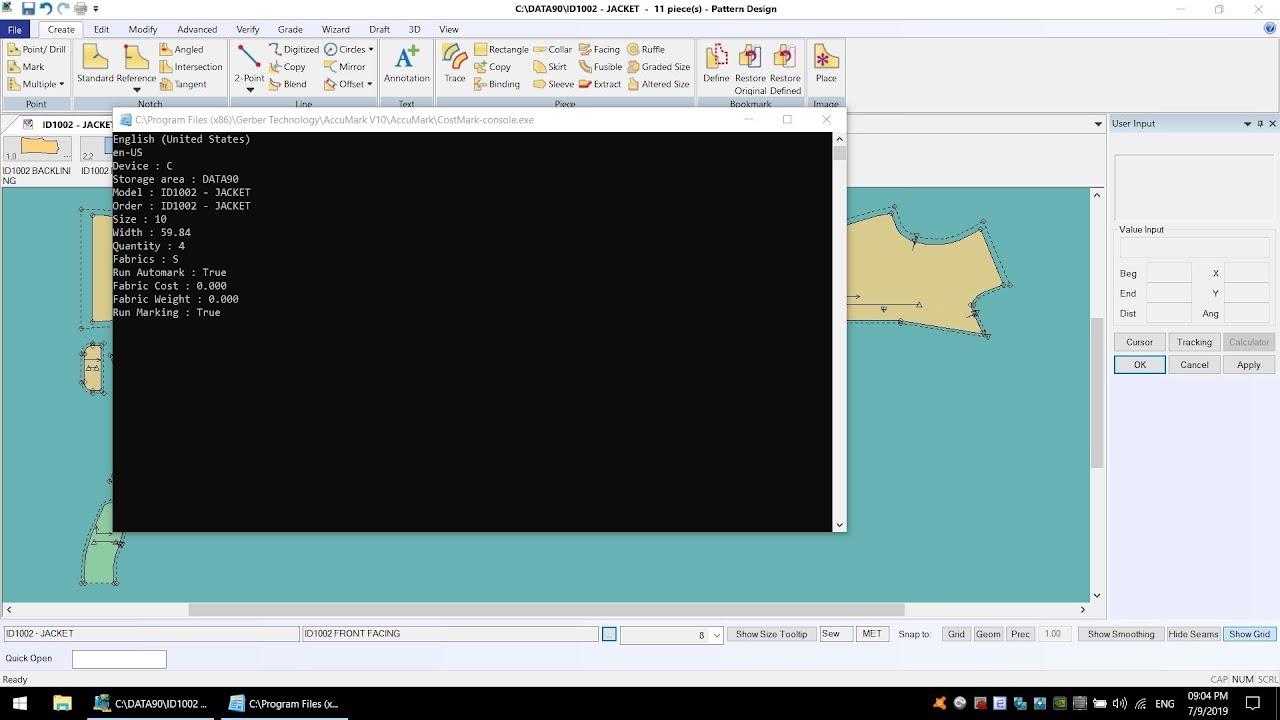 AccumarkV10 Pattern Design-Process Costing Marker: Tạo Sơ Đồ Tính Định Mức Tạm 4