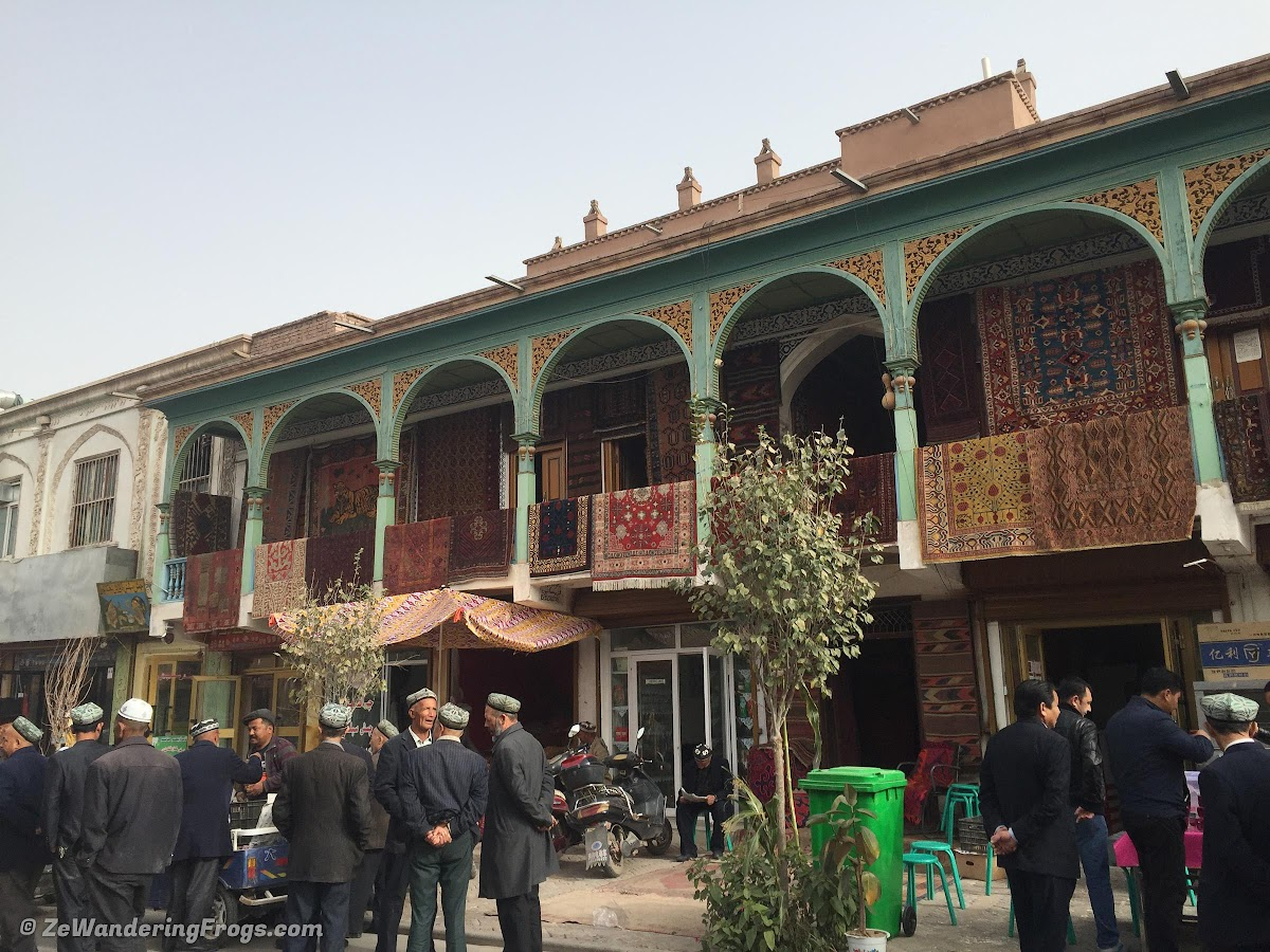 On the Silk Road: Kashgar Old City, China // Carpet shops