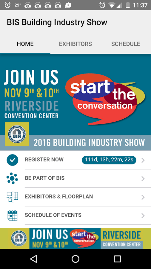 BIS Building Industry Show- screenshot