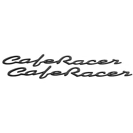 Cafe Racer dekal svart metall