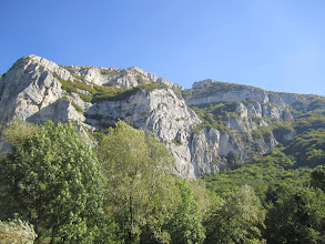 Photo: Looking up at Saleve Les Crets Launch area