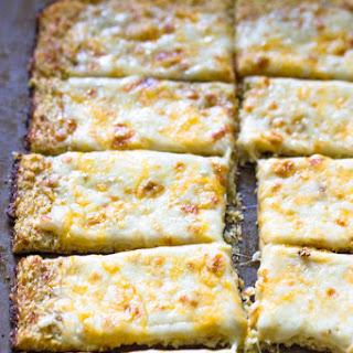 Low-Carb Cauliflower Crust Bread sticks.