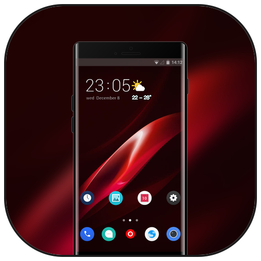 Theme for Oppo Realme 2 red abstract wallpaper icon