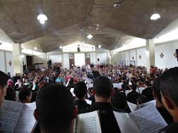 El concierto realizado en la Iglesia El Carmen, en el sector La Morera, concentró a un significativo número de personas