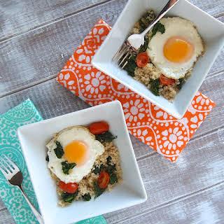 Egg, Kale & Quinoa Breakfast Bowl.