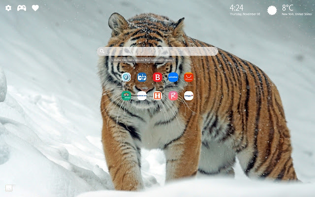 Tiger New Tab Theme