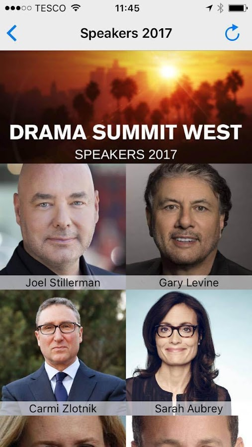Drama Summit West Agenda- screenshot