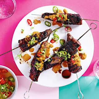 Easy Satay Steak Skewers.
